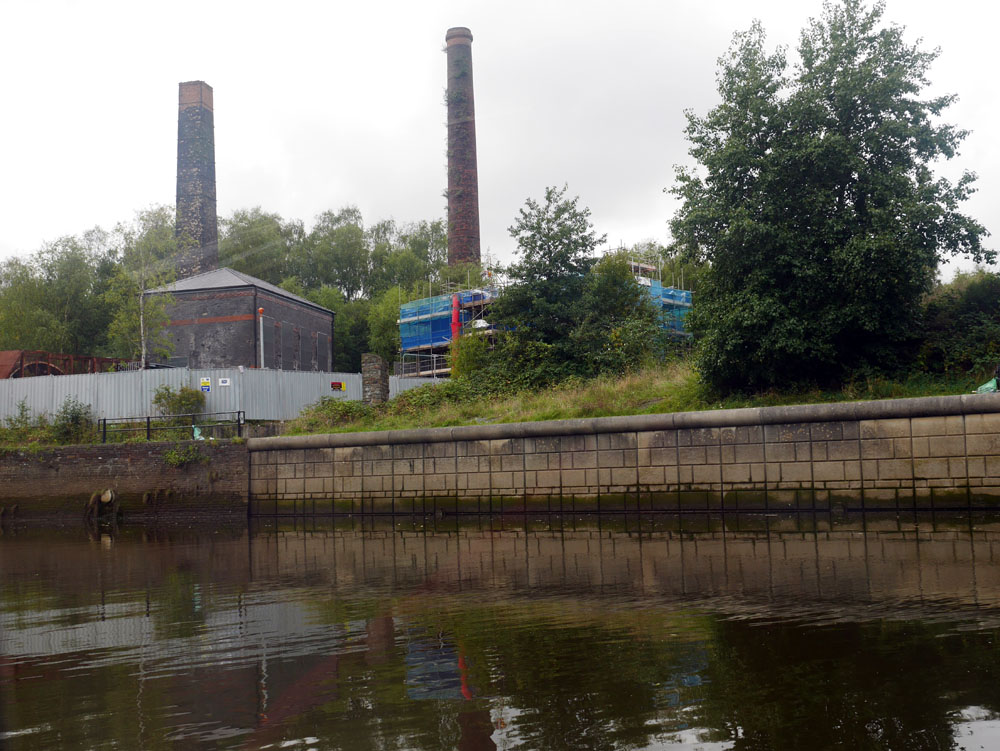 Hafod-Morfa Copperworks from boat